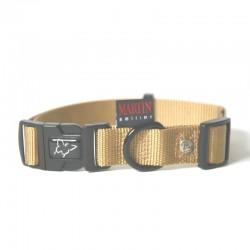 Collier pour chien réglable nylon beige TS - 30-45cm