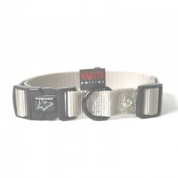 Collier pour chien réglable nylon gris TS - 30-45cm
