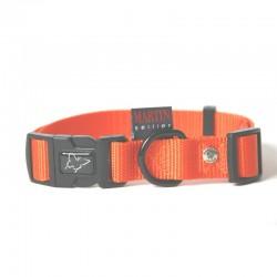 Collier pour chien réglable nylon orange TS - 30-45cm