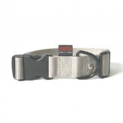 Collier pour chien réglable nylon gris TM - 50-70cm