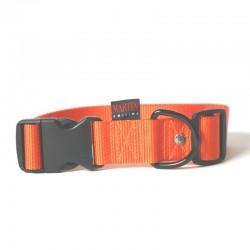 Collier pour chien réglable nylon orange TM - 50-70cm