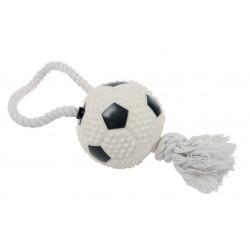 Zolux jouet balle foot + corde 10cm 480778 - ZOLUX