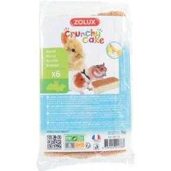 Crunchy cake pomme/banane x6 - ZOLUX
