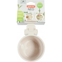 Mangeoire plast neo 300ml beige - ZOLUX