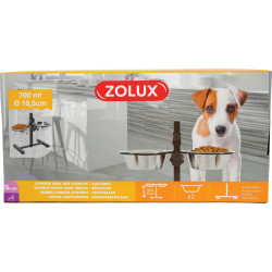 Support reglable + 2 bols - ZOLUX