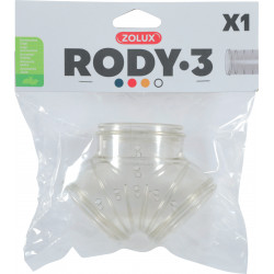 Tube y rody gris transparent - ZOLUX