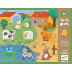 """Puzzle """"Tactiloferme"""" - 12 pièces + 8 encastrables"""