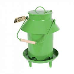 Mangeoire trémie avec toit métal 3,5l vert - ZOLUX