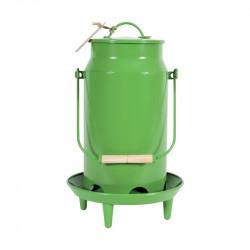 Mangeoire trémie métal 3,5l vert - ZOLUX