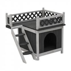 Maison chat avec toit...