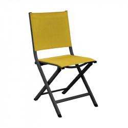 Chaise pliante Thema graphite/moutarde - ALIZE