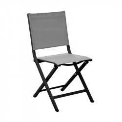 Chaise pliante Thema graphite/perle - ALIZE