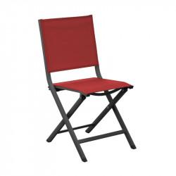 Chaise pliante Thema graphite/rouge - ALIZE