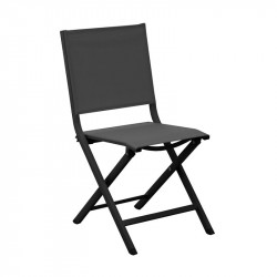 Chaise pliante Thema graphite/noir - ALIZE
