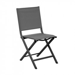 Chaise pliante Thema grey/noir - ALIZE