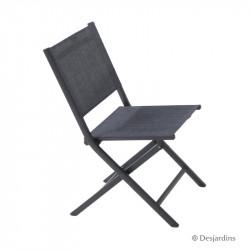 Chaise pliante Censo gris -...