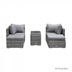Ensemble Sofa gris...