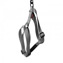 Harnais pour chien réglable nylon gris TXL - 90-110cm