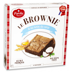 Brownie chocolat et coco 285 g - FORCHY PATISSIER