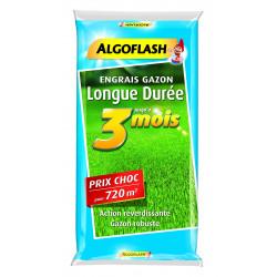 Engrais gazon longue durée 3mois sac 18kg -720m - ALGOFLASH