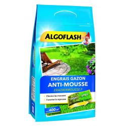 Engrais gazon anti-mousse sac 12kg pour 400m - ALGOFLASH