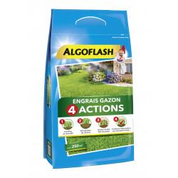 Engrais gazon 4 actions sac 10kg pour 250m - ALGOFLASH