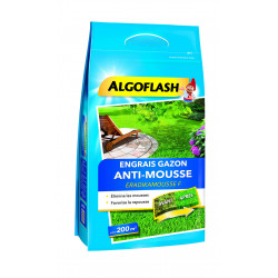 Engrais gazon anti-mousse sac 6kg pr 200m - ALGOFLASH