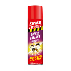 Guepes frelons aerosol 400ml - BARRIERE A INSECTES