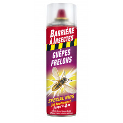 Guepes frelons spécial nids aérosol 500ml - BARRIERE A INSECTES