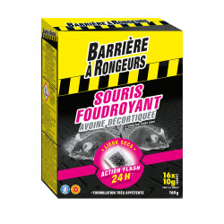 Souris foudr.appat cereales bar/a rongeurs 160g - BARRIERE A RONGEURS
