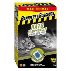 Rats & campagnols appat sur pate maxi format 400 - BARRIERE A RONGEURS