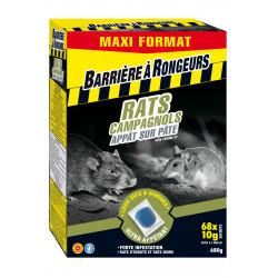 Rats & campagnols appat sur pate maxi format 680 - BARRIERE A RONGEURS