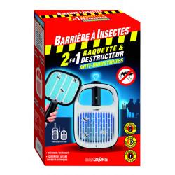 Raquette&destructeur anti-moustiques 2en1 - BARRIERE A INSECTES