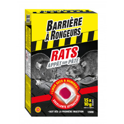 Rats appat pate barriere rongeurs 150g - BARRIERE A RONGEURS