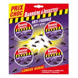 Boîtes-appât anti-fourmis x4 - BARRIERE A INSECTES