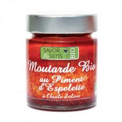 Moutarde Bio Piment d'Espelette 130g - SAVOR ET SENS