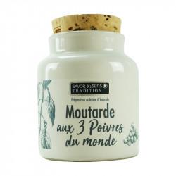Moutarde 3 poivres 110g - SAVOR ET SENS