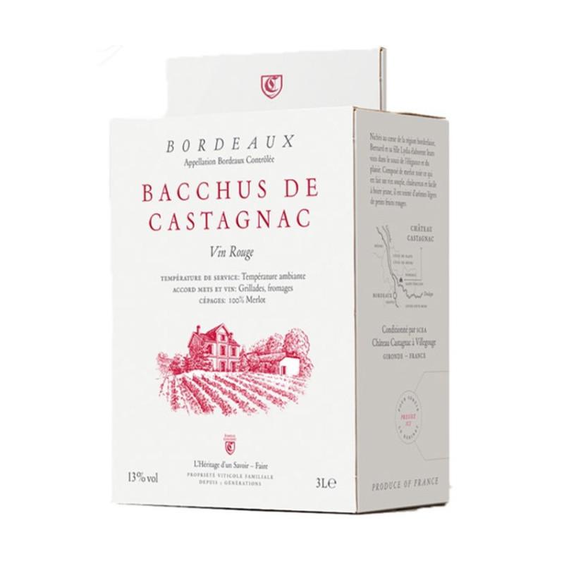 Bordeaux rouge Bacchus Castagnac bag in box 5 L - CHATEAU CASTAGNAC