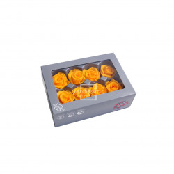 Tëtes de roses média jaune (x8) - NATURALYS