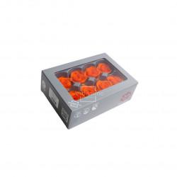 Tëtes de roses média orange (x8) - NATURALYS