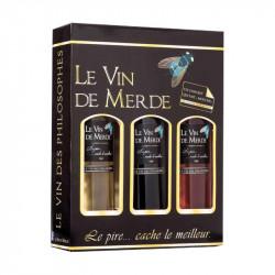 Vin de France coffret 3 bouteilles 75 cl - LE VIN DE MERDE