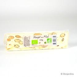 Nougat au miel bio - 100g
