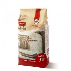 Farine All-in pour pain blanc aux fibres - 2.5kg