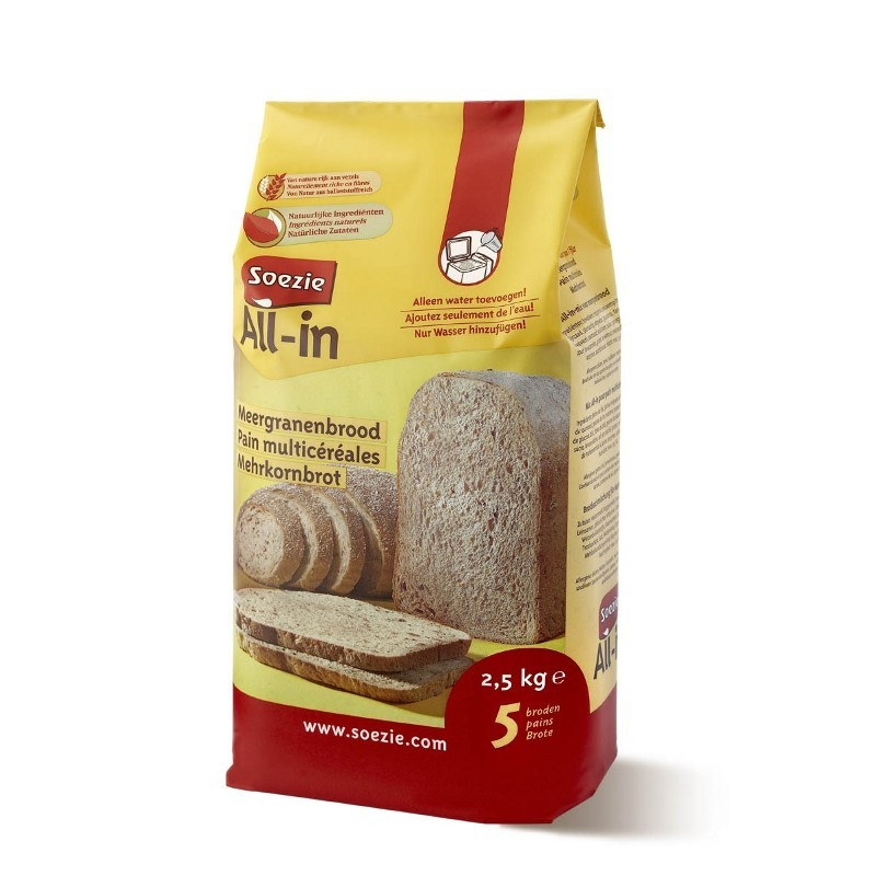 Farine All-in pour pain multicéréales - 2.5kg