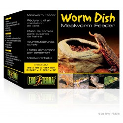 Mangeoire pour reptiles Worm Dish - Exo Terra - 95x45x127mm