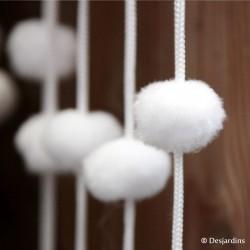 Rideau de boules de neige blanc - 90x200cm