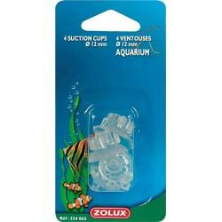 4 ventouses + crochets Zolux pour tuyau 1,2 CM