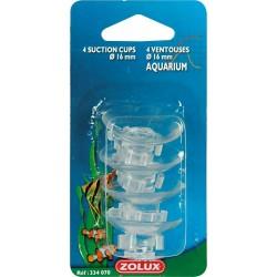 4 ventouses + crochets Zolux pour tuyau 1,6 CM