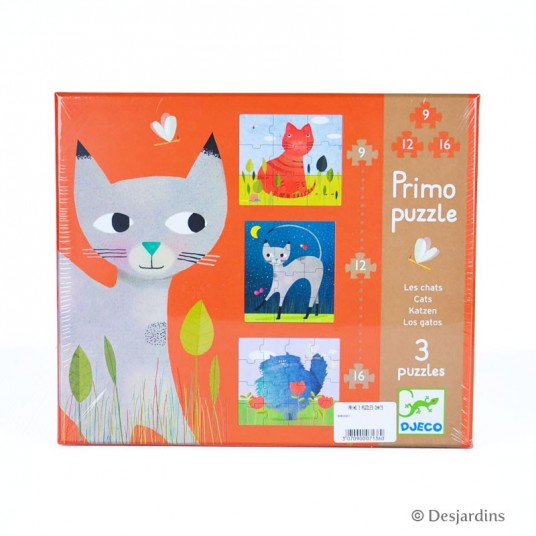 """3 primo puzzles """"chats"""""""