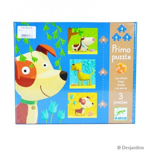 """3 primo puzzles """"chiens"""""""